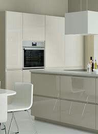 Voxtorp hoogglans beige keuken
