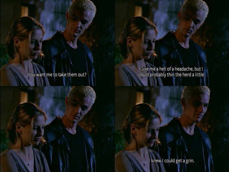 Spike making Buffy feel better...i used to watch this show so much, I loved Willow and Spike