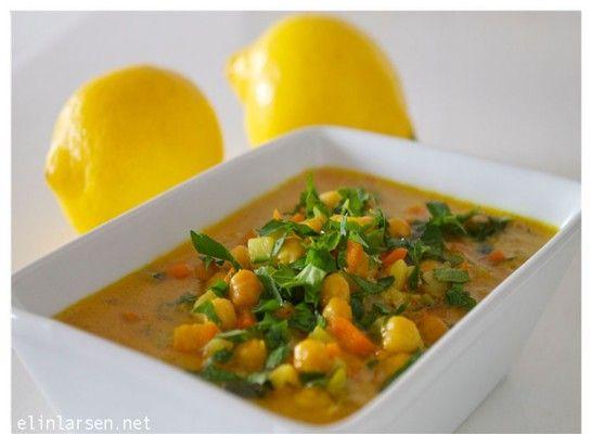 Spicy thaigryte med grønnsaker og kikerter | Elin LarsenElin Larsen
