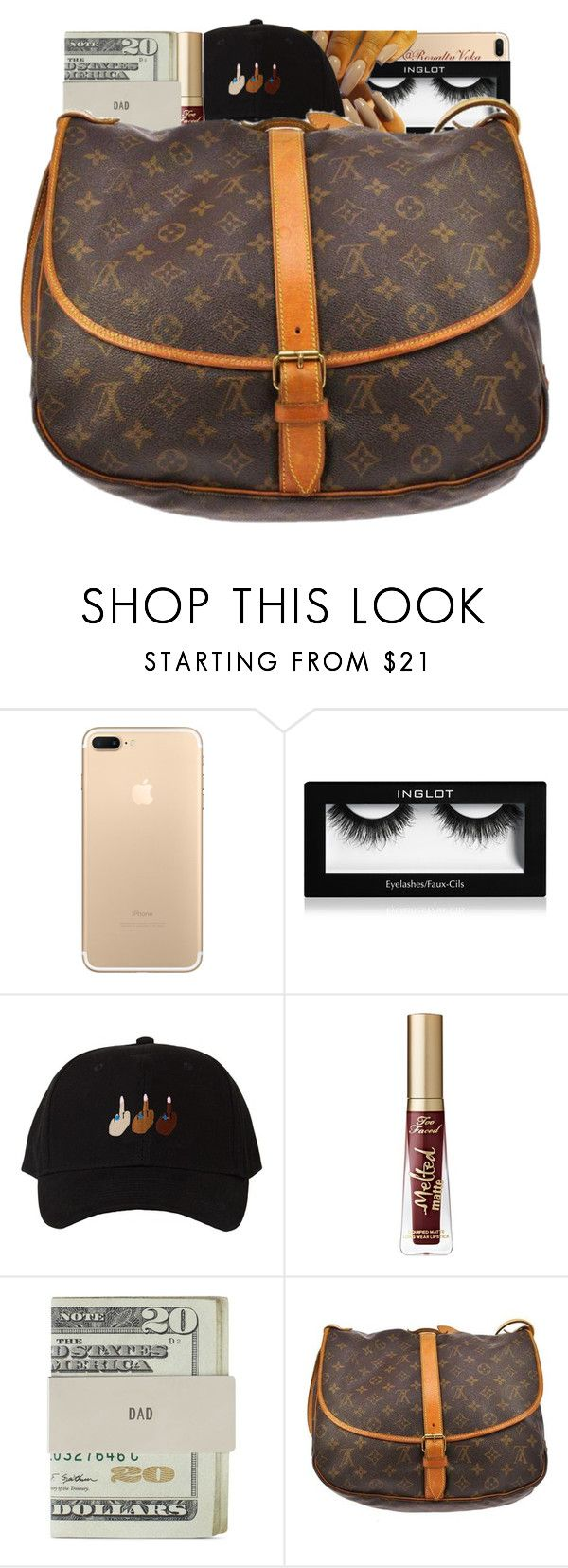 """""""#12"""" by royaltyvoka ❤ liked on Polyvore featuring Inglot, Too Faced Cosmetics, Jack Spade and Louis Vuitton"""