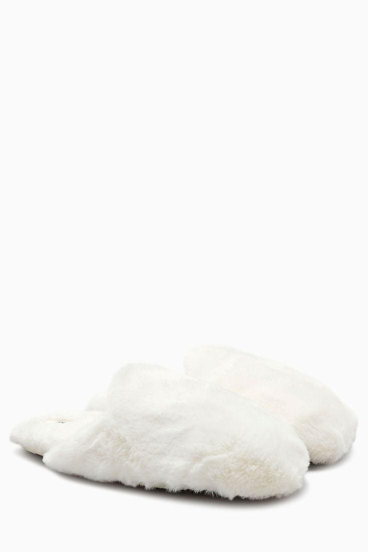 Buy White Snuggle Mule Slippers from the Next UK online shop