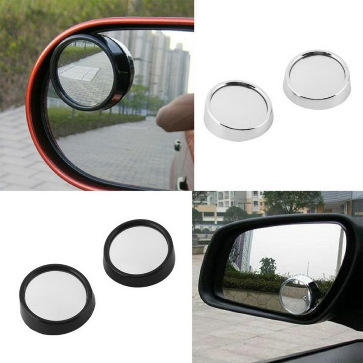 2 PCS Car Vehicle Blind Spot Dead Zone Mirror Rear View Mirror Small Round Mirror Auto Side 360 Wide Angle Round Convex Mirror #CLICK! #clothing, #shoes, #jewelry, #women, #men, #hats
