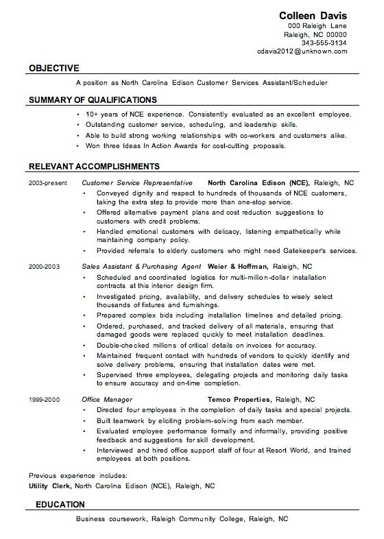 The 25+ best Customer service resume ideas on Pinterest Customer - summary of qualifications resume examples
