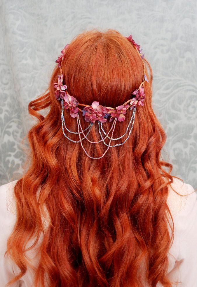 Wreath Bohemian Flower Crown Medieval Circlet Hair