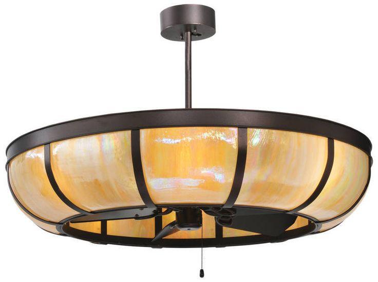 six light ceiling fixture | Custom Lighting Fixture integrates ceiling fan technology., Meyda ...