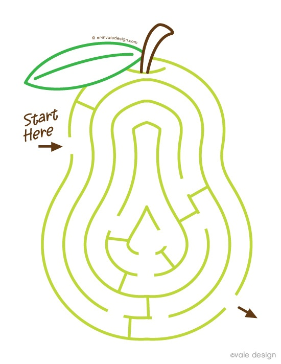 Pear maze {via Vale Design}