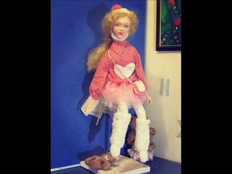 Бесплатный Мастер-класс по лепке лица куклы из полимерной глины . роспис...