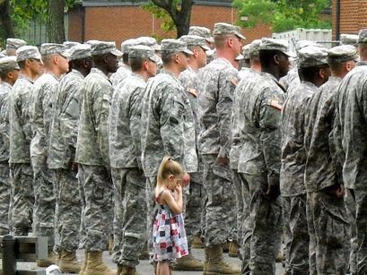 Holding onto her hero.: Army, Little Girls, Heroes, Inspiration, Soldiers, Heart, Things, Military, Daddy Girls