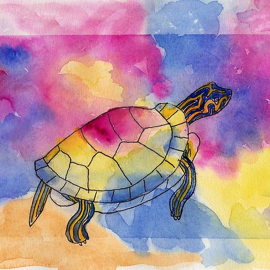 Painted Turtle on Redbubble Get art prints, cards, clothing and more...