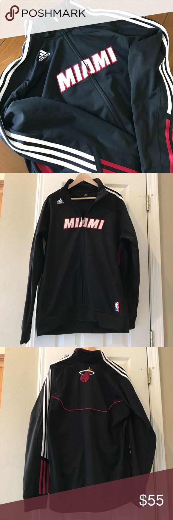 NWOT|{adidas} Miami Heat Basketball 🏀 Jacket Brand New! Perfect for all the upcoming Heat games! Go Heat! 🏀🌴🌞 adidas Jackets & Coats