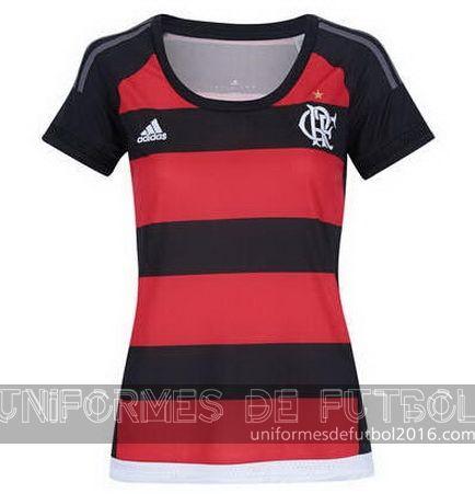 Jersey local para uniformes de futbol para mujeres Flamengo 2016 | uniformes de futbol economicos