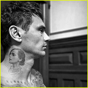 James Franco Debuts (Possibly Fake) Tattoo of Emma Watson on His Neck