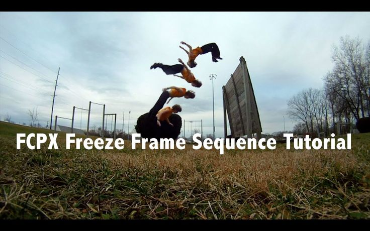 Final Cut Pro X Freeze Frame Sequence Tutorial