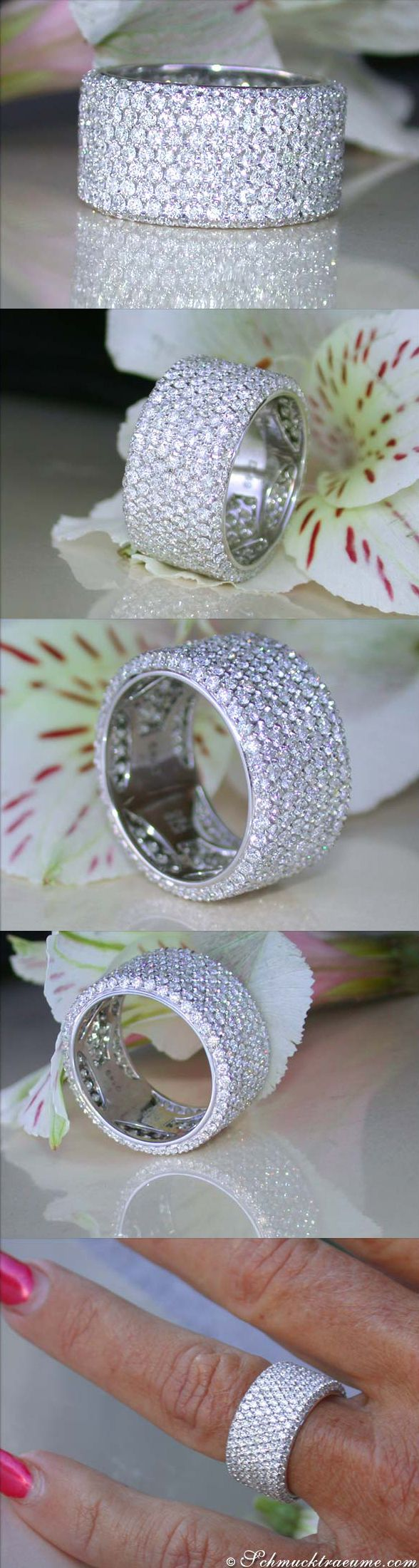 Amazing Diamond Eternity Ring, 4,49 cts. g-si WG18K - schmucktraeume.com - Like: https://www.facebook.com/pages/Noble-Juwelen/150871984924926