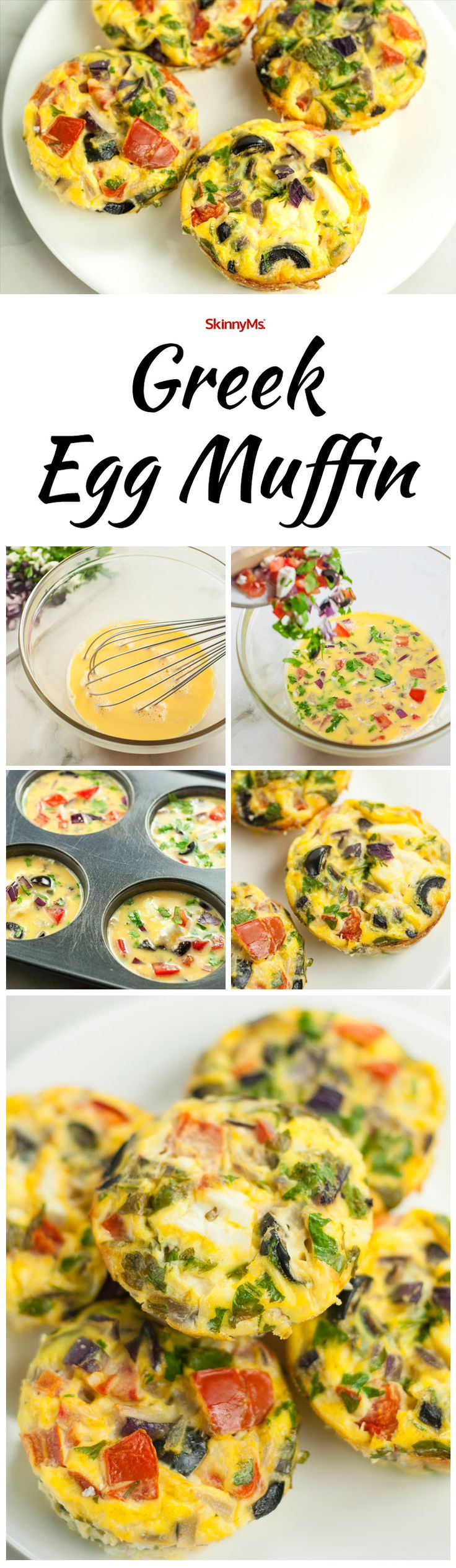 Rise and Shine With These Greek Egg Muffins! #breakfast #healthy