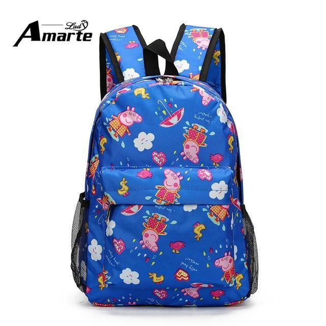 2017 New Cute Cartoon Pig Design Kids Backpacks Waterproof Children Backpacks for Boys Girls Students School Backpacks