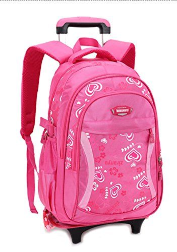 938387c489 The perfect Phaedra FU Kids Rolling Backpack Phaedra FU Cute School Backpack  With Wheels For Girls online.   39.99  topbrandsclothing from top store