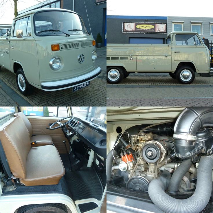 FOR SALE! Volkswagen T2B Pick Up. For more info and pictures: www.volksrepairs.nl