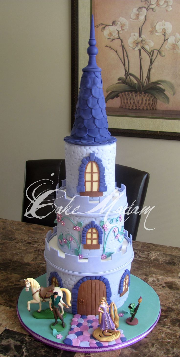 17 Best Tangled Cakes Photo Gallery Images On Pinterest Tangled