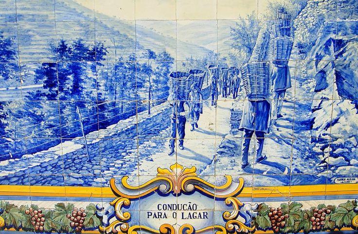 azulejos portugueses - Estação do Pinhão (Alijó)