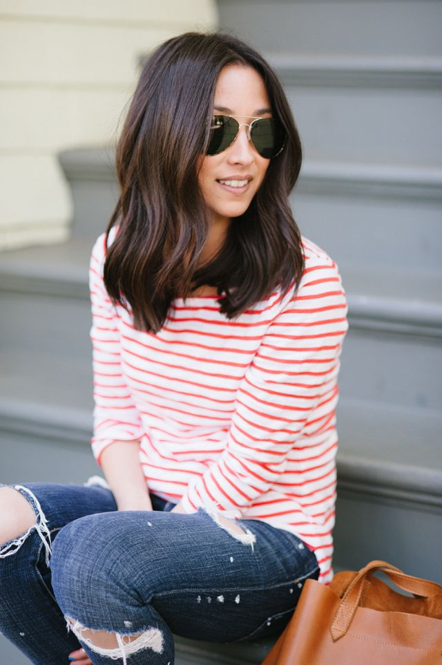 Cute style with subtle waves.