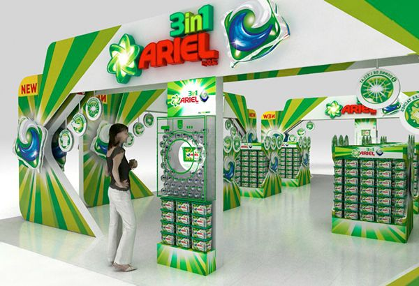 Simple Exhibition Stand Uk : Supermarket promotional space for ariel power pods on