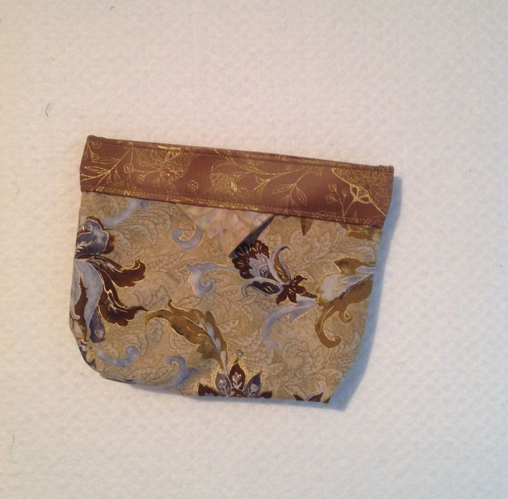 Bag, Clutch, Purse, Click -it Bag, Tote Bag, Cosmetic Bag, Gift, Brown, Blue  and Gold Floral by AlidanCreations on Etsy