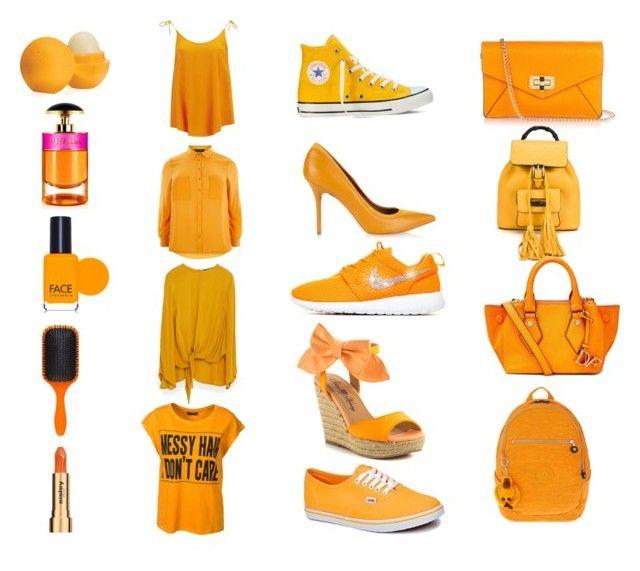 """Sunset orange"" by lauren-parker012345 on Polyvore featuring Samsøe & Samsøe, Sally&Circle, Zara, Eos, Prada, FACE Stockholm, Sisley, Converse, Malone Souliers and Penny Loves Kenny"