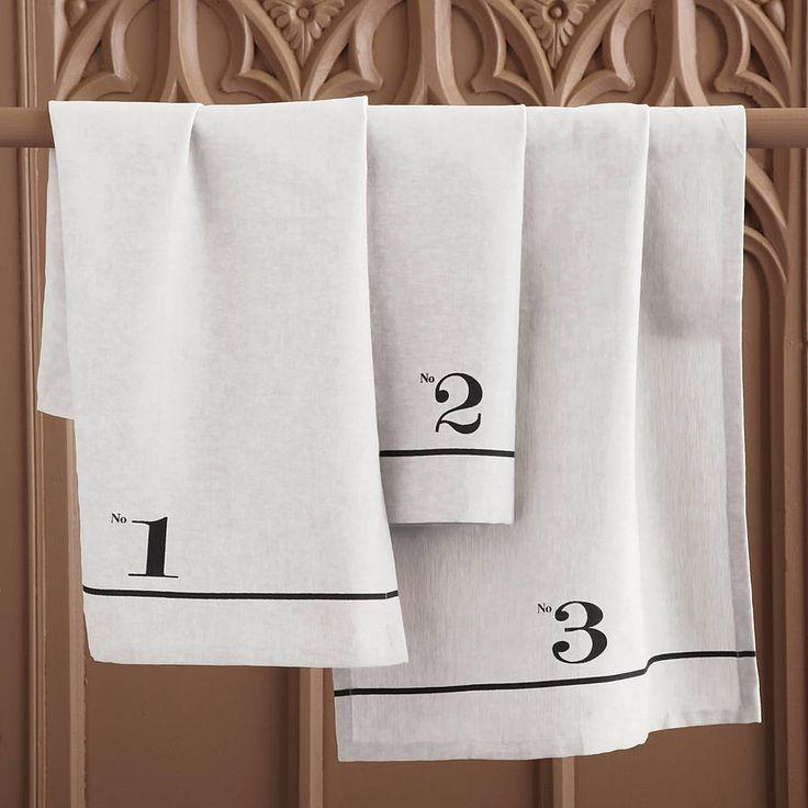 numerology teatowels, set of three by lindsay interiors | notonthehighstreet.com