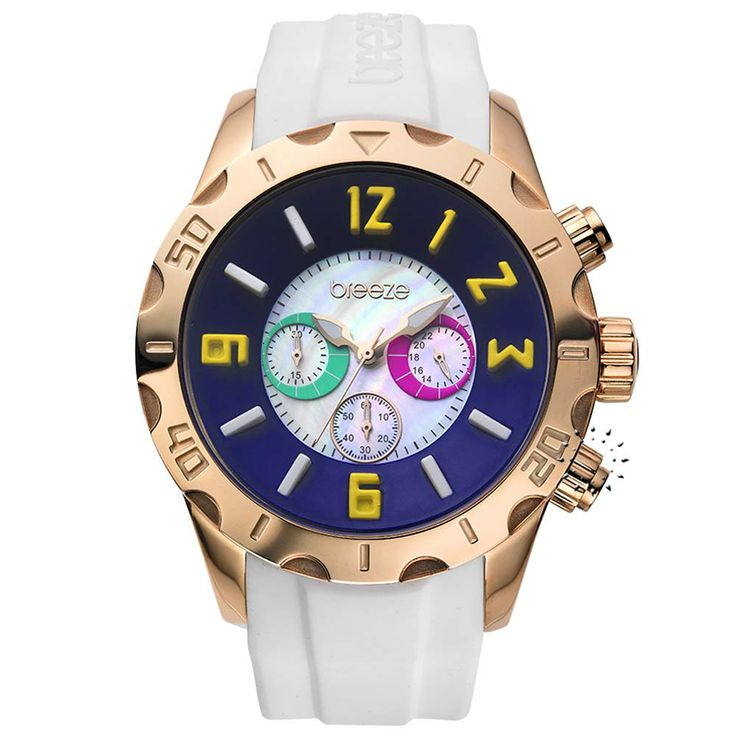 BREEZE California Dream Chrono White Rubber Strap Τιμή Προσφοράς: 145€ http://www.oroloi.gr/product_info.php?products_id=30510