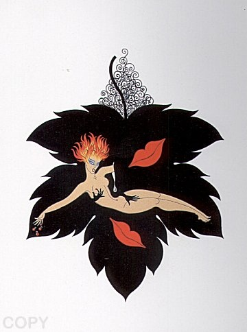 """""""Lust""""   by   Erte from  The Seven Deadly Sins Suite"""