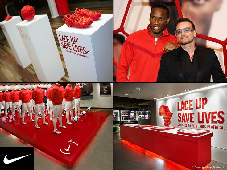 FormRoom for Nike | Red Campaign Global Launch  | #Nike #Retail #Interiors #StoreDesign #VM