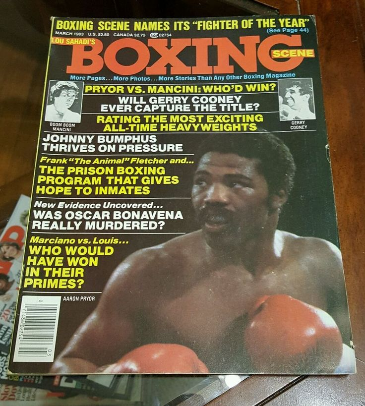 AARON PRYOR Boxing Scene Magazine 1983 RAY MANCINI Frank Fletcher Bonavena