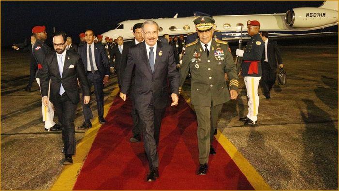 Presidente Medina regresa al pais tras participar en XLIX Cumbre SICA celebrada en Costa Rica