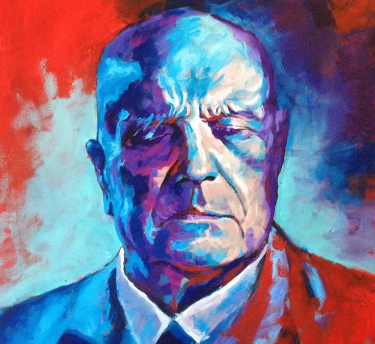 """""""The Old Master"""" by Heikki Sivonen 2014. Acrylic on canvas 81x100cm.  Today we are celebrating the 149th birthday of our National composer Jean Sibelius. To honour his career and influence on Finnish identity I painted this artwork."""