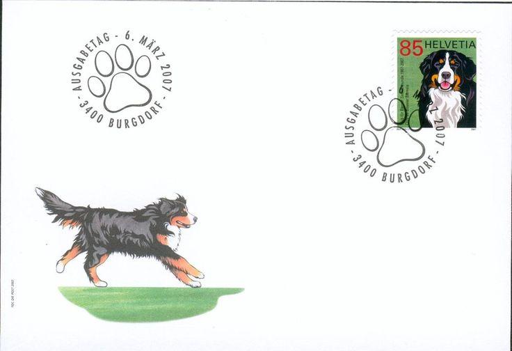 Swiss Michel Nr. 2001 on FDC Berner Sennenhund dog gk49