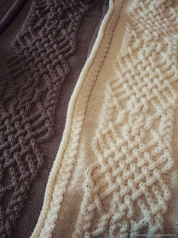 Плед вязаный большой ручная работа покрывало/одеяло Королевские Араны – купить в интернет-магазине на Ярмарке Мастеров с доставкой