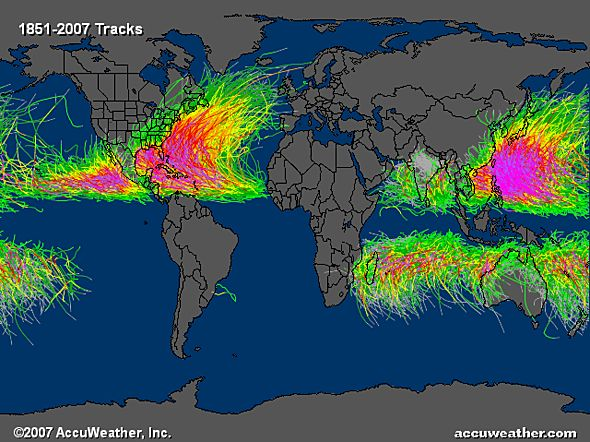 When and Where Do Hurricanes Occur? - Neat visual from Accuweather