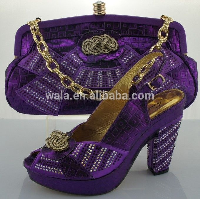 Italian shoes and bag with stripe and rhinestone heel 10cm SA50506-3purple FOB Price: US $ 35 - 49 / Set | Get Latest Price Min.Order Quantity: 1 Set/Sets Supply Ability: 3000 Set/Sets per Month