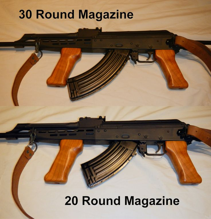 Hungarian AMD-65 showing slight magazine interference with front grip when using 30 round ...