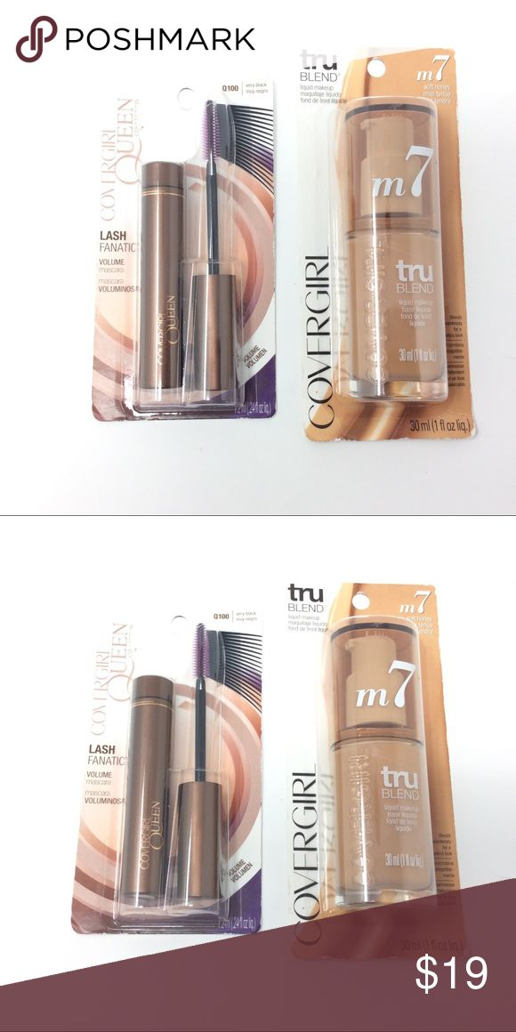 Cover Girl Makeup Bundle This bundle includes one cover girl true blend soft honey liquid make up m7, and one cover girl queen collection lash fanatic mascara Q100 Very Black. Cover Girl Makeup Mascara