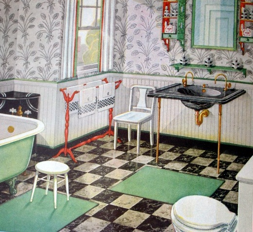 40 Wonderful Pictures And Ideas Of 1920s Bathroom Tile Designs: 501 Best Rooms With Baths ~ Vintage 20s-30s-40s-50s Images On Pinterest