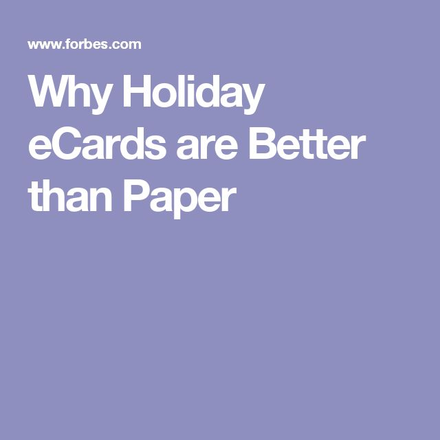 Why Holiday eCards are Better than Paper
