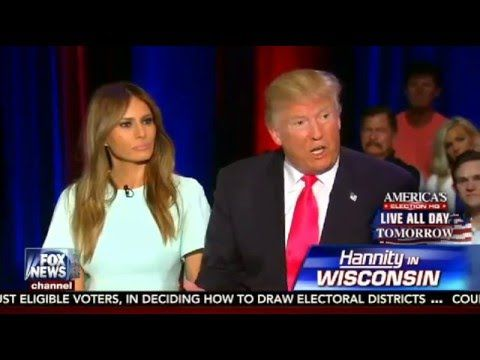 Donald Trump & Wife Melania on Sean Hannity FULL Interview - 4/4/16 - Fo...