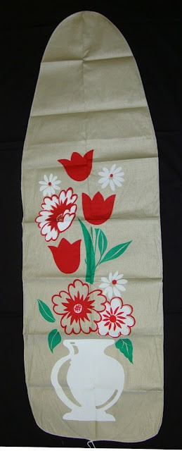 A Vintage 1950s Floral Ironing Board Cover!