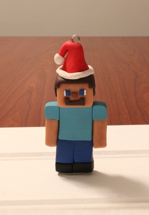 Handcrafted polymer clay Minecraft like Steve by ArtsyVartsy