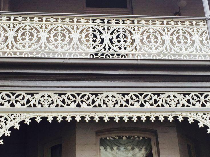 Iron lace, Erin Street, Richmond, Melbourne, Victoria, Australia.