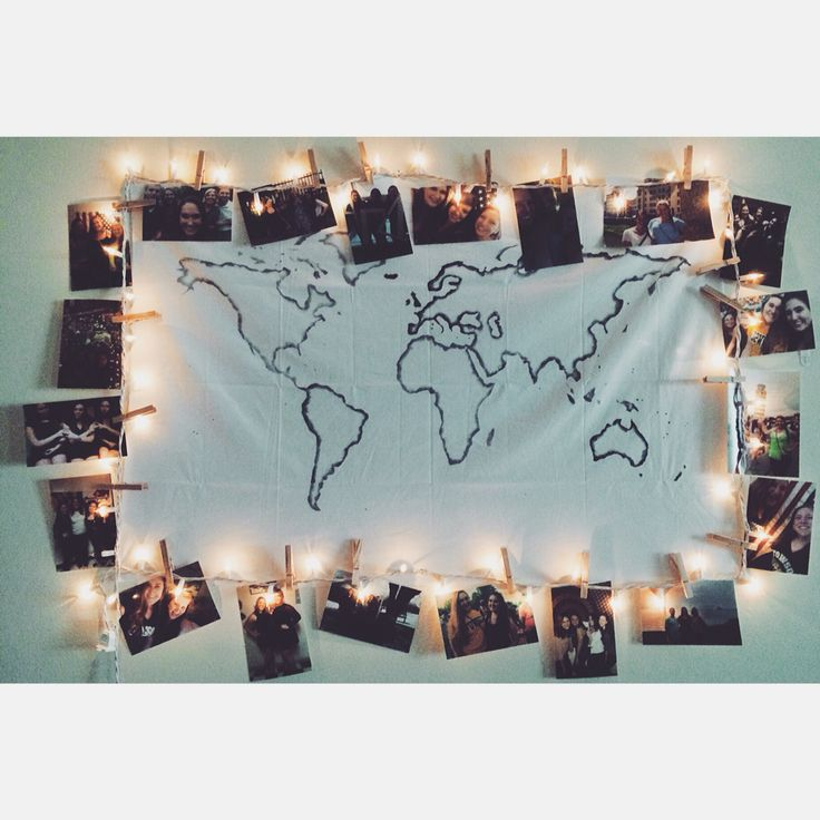 decorated dorm room, map from etsy $20  Artsy  ~ 170956_Etsy Dorm Room Ideas