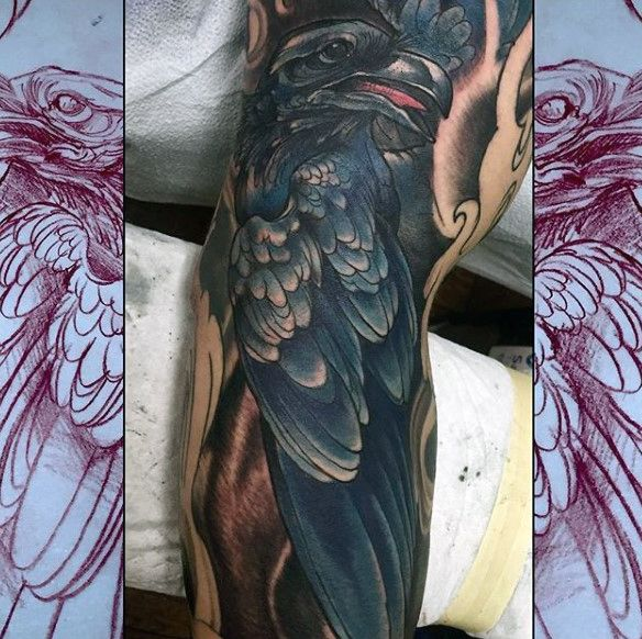 17 best images about tattoo on pinterest no face full for Ravens face tattoos
