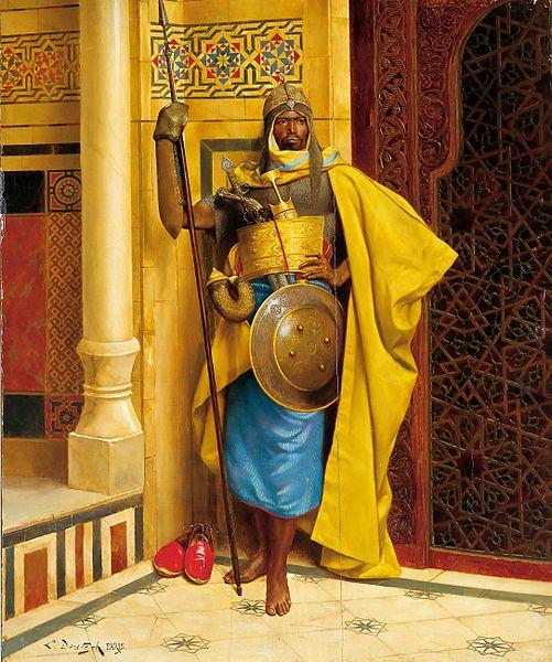 Deutsch, Ludwig, (1855-1935), The Nubian Palace Guard